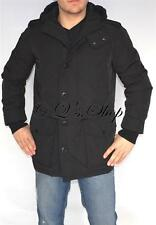 New Mens Tommy Hilfiger Parka Jacket Insulated Coat Black Size Small