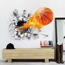 3D basketball Stickers Wall Removable Bedroom Stickers home Decor