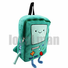 "Rare Adventure Time BMO Beemo 15"" Plush Large Backpack Shool Book Bag US ship"