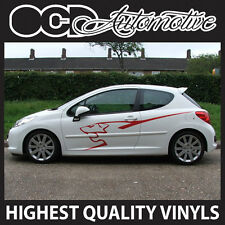 Carlin peugeot 106 107 205 206 207 306 307 308 côté lion graphics decal sticker kit