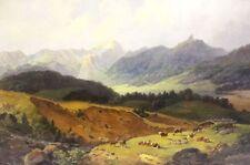 Michael Lueger in montagna con lago e vacche