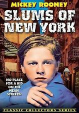 SLUMS OF NEW YORK/Mickey Rooney/1932/NEW DVD/BUY ANY 4 ITEMS SHIP FREE