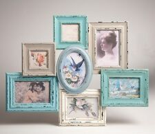 Multi 7 Frame Photo Frame Delilah Sass & Belle Shabby Chic Green Cream