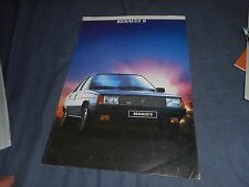 1983 Renault R9 Sedan Color Brochure Catalog Prospekt