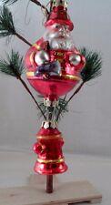 Blown Glass Santa Claus Firefighter Fireman & Axe w/ Dangling Fire Plug Hydrant