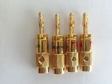 4 Nakamichi New High Quality Banana Plug Audio Adapter 24K Gold Plated N0507 USA