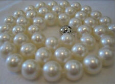 "14K Solid Gold Clasp 9-10MM White Akoya Pearl Necklace 18""AAA+"