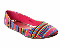 WOMENS MULTI COLOUR FLAT DOLLY PUMPS BALLET BALLERINA SHOES LADIES UK SIZE 3-8