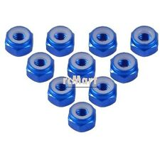 Yeah Racing 2mm Aluminium Lock Nut (BU) Kyosho Mini-Z 1:27 RC Car #LN-M2-BU