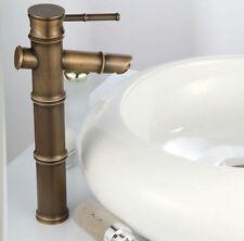 Brand New Antique Brass Bathroom Countertop Vanity Vessel Faucet Mixer Tap