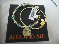 Alex and Ani MOM COLOR INFUSION SET Shiny Gold Bangle New W/ Tag Card & Box