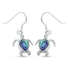 Abalone Shell Turtle .925 Sterling Silver Earring