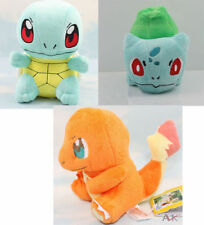3pcs set Pokemon Bulbasaur Charmander Squirtle Stuffed Plush Toy Figure Doll!!
