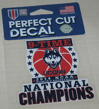 "UConn Huskies Women's Basketball 9-Time National Champs 2014 Decal 3.5"" x 3.25"""