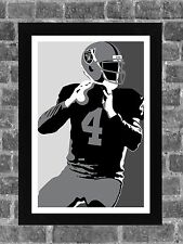 Oakland Raiders Derek Carr Portrait Sports Print Art 11x17