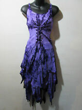 Christmas Faerie Dress Fits XL 1X 2X Plus Purple Corset Layered Pixie NWT G209