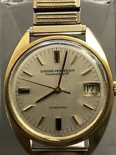 VINTAGE GIRARD PERREGAUX GYROMATIC CHRONOMETER HF AUTOMATIC 39 Jewels