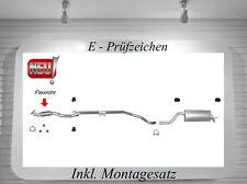 Auspuffanlage Opel Corsa D 1.2 Auspuff Mittelrohr Endtopf Montagesatz 51/59/63KW
