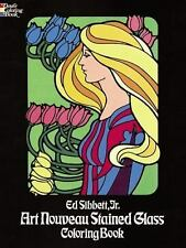 Art Nouveau Stained Glass Coloring Book (Dover Design Stained Glass-ExLibrary