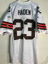 Reebok Authentic NFL Jersey Cleveland Browns Haden White sz 56