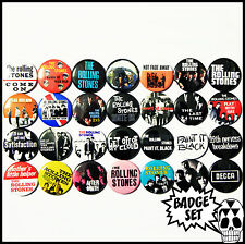 The Rolling Stones 1963-1966 Badge Set - 28 Quality Pin / Button Badges