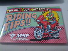 You and your Motorcycle Riding Tips Book Skill Test Practice Guide Safety MSF