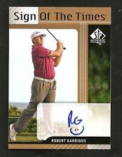 ~ 2012 Upper Deck ROBERT GARRIGUS Autograph ~ SP Authentic ~ Golf ~