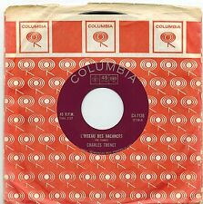 MFD IN CANADA 1960s FRENCH POP 45 RPM CHARLES TRENET : L'OISEAU DES VACANCES