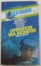TIGERSHARK #3 OPERATION SEA MONSTER KEN STANTON 1974 MANOR #12543 1ST ED PB