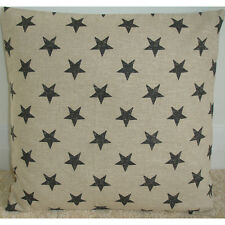 "16"" Cushion Cover Grey and White Stars Monochrome Kids Childrens Playroom"