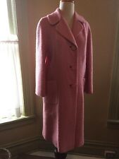Vintage Easter Pink wool swing coat/ womens sz 10 1950's
