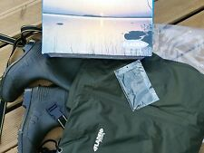 FLADEN COARSE FLY FISHING LIGHTWEIGHT NYLON CHEST WADERS SIZE UK8 / 42EUR  RIVER