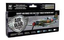 Vallejo VLJ-P71197 Soviet Air Force VVS 1941 to 1943 Model Air Paint Set