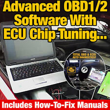 OBD OBD2 OBDII LAPTOP CAR DIAGNOSTICS, SCANNER & ECU CHIP TUNING SOFTWARE