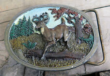 Whitetail Buck Deer Animal Wildlife Vintage Belt Buckle