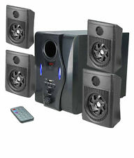 4.1 HD AUDIO HOME THEATRE SPEAKER SYSTEM WITH USB&FM- BLACK