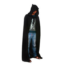 New Mens Ladies Hooded Robe Long Cloak Cape Hood Halloween Fancy Costume Dress
