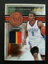 RUSSELL WESTBROOK 2009-10 PANINI ABSOLUTE HEROES JERSEY MATERIALS PATCH #6/10!