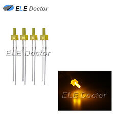 100pcs 2mm Diffused Yellow-Yellow Light DIP Flat Top LED Diodes