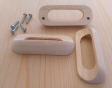 """Drawer Pulls - Wood """"Finger"""" pull - (6 pieces)"""