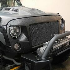 Off-road Shark Spartan Grille with Mesh inserts for Jeep Wrangler 2007 - 2016