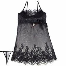 PLUS SIZE M-4XL Lace Women Lingerie Nightwear Teddy Underwear Camisole +G-string