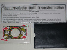 Square-Circle Card Transformation Magic Trick - Close-Up Cards, Street, Illusion