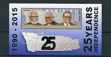 Namibia 2015 Gomma integra, non linguellato di 25 ANNI INDIPENDENZA PRESIDENTI nujoma N. 1v M/S FRANCOBOLLI