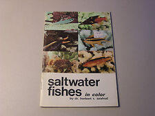 Saltwater Fishes in Color by Dr. Herbert Axelrod 1970 Marine Fishes Aquarium