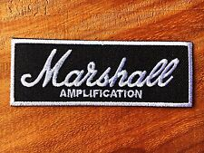 MARSHALL BLACK NEW EMBROIDERED SEW / IRON ON NAME PATCH