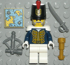 LEGO IMPERIAL GUARD Bluecoat Minifigure Governor Pirate Map/Sword/Telescope