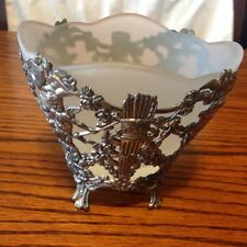 Vintage Corbell & Co. Silver and Glass Bowl