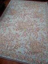LAURA ASHLEY RUG GERMAIN duck egg blue WOOL MIX shabby VICTORIAN chic TAPESTRY