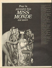 COUPURE de presse PHOTO CLIPPING  MISS MONDE JENNIFER HOSTEN est noire !